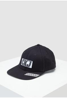 f0192e1a Calvin Klein black BMX Flat Brim Cap Men - Calvin Klein Accessories  B58E5AC22E03C0GS_1
