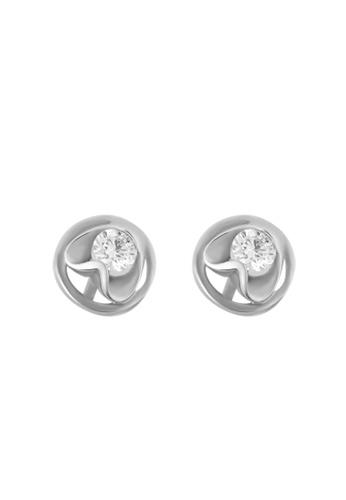 TOMEI white TOMEI Vignette of Spherical Resplendence Earrings, Diamond White Gold 375 (R1396) 81B41AC7875CA9GS_1
