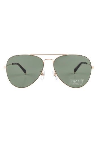 Esprit ESPRIT Aviator Gold Sunglasses ET13119 ES374AC51GAUMY_1