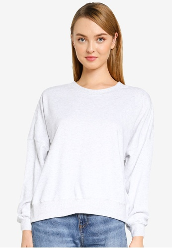 Cotton On silver Harper Boxy Graphic Crew Sweatshirt E33D1AAC8278FAGS_1
