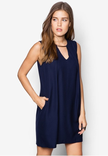 ZALORA navy Collection Dress With Front Cut Out 91CBFAAAF3E1A2GS_1