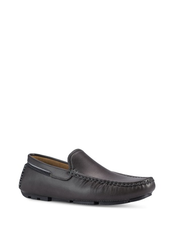 UniqTee grey Slip-On Loafers With Striped Ribbon UN097SH25ILMMY_1