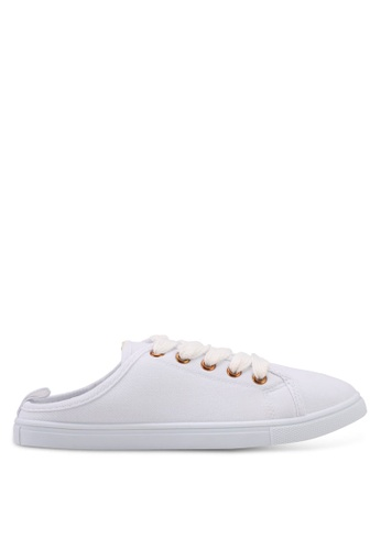 Rubi white Riley Cut Out Mule Sneakers CFAFBSHA6E8F6BGS_1