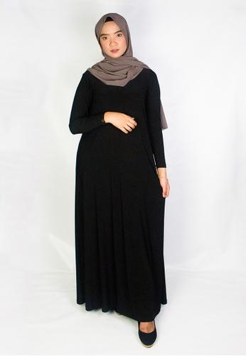 Zaryluq black Maxi Dress in Ebony Black 94773AAD77AF70GS_1