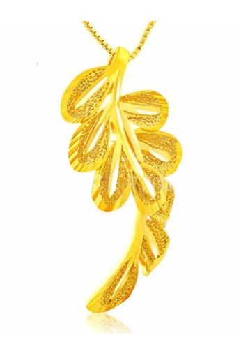 YOUNIQ gold YOUNIQ Premium Leaves 24K Gold Plated Pendant 1B6F8AC526E1B5GS_1