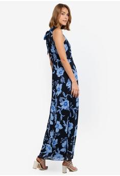 9e3774b982f Dorothy Perkins navy Navy Floral Print Maxi Dress 18E6EAAA7C2FAAGS_1