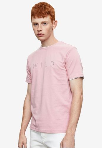URBAN REVIVO red Printed T-Shirt 90928AA58F7166GS_1
