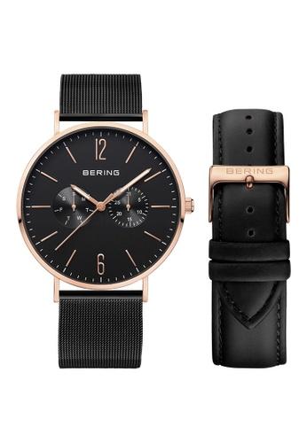 Bering black and gold Classic 14240-166 Black 40 mm Men's Watch 7051DAC9A929C0GS_1