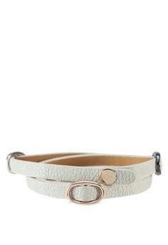 Triple Strappy Faux Leather Bracelet