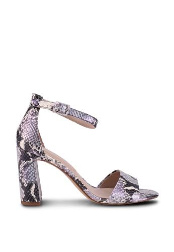 ALDO 紫色 Uniolia Open Toe Ankle Strap Block Heels 42D31SHC3D3201GS_1