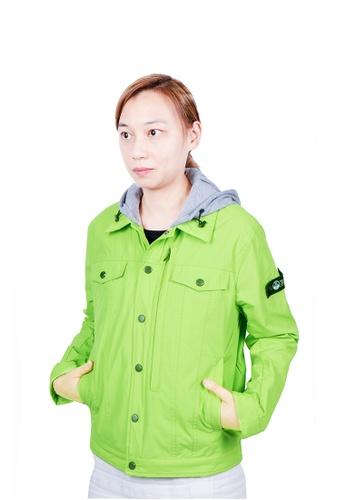 East Pole green Women's 14 Pockets Denim Style Jacket 49369AA702D9FDGS_1