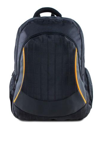 撞色滾zalora taiwan 時尚購物網鞋子邊筆電後背包, 包, 電腦包