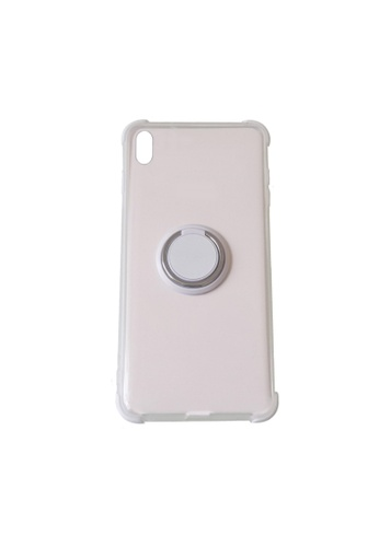 MobileHub white iPhone XS Max Silicone Clear Case with X-Ring D51D6ACBBC28CAGS_1