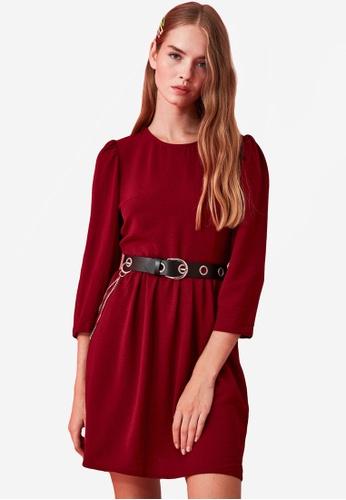 Trendyol red Gathered Waist Dress AC00FAA1D1FBD3GS_1