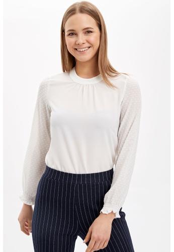 DeFacto white Woman Long Sleeve Blouse F33C1AAF8179FFGS_1