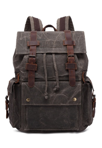 Twenty Eight Shoes Vintage Leather Wax Canvas Backpack MC5358 6028CACFD5A9ABGS_1