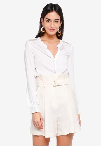 Vero Moda white Marella Long Sleeve Top FB403AA4E3196EGS_1