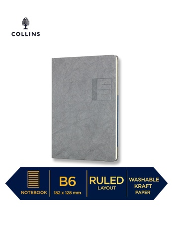 Collins grey Collins Serendipity   ─  Notebook B6 Ruled Grey B0D4EHL8331E43GS_1