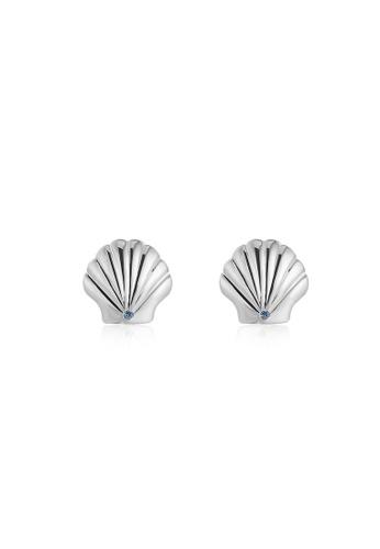 Silverworks silver Princess Ariel Seashell Stud Earrings 542D5AC148D10EGS_1