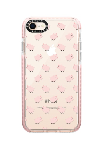 Casetify pink Piggies! Impact Protective Case for iPhone 8/ iPhone 7 F00A1ACE25DA29GS_1