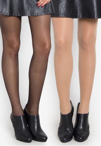 Kats Clothing black and beige 2in1 Stockings   KA896US0KBGXPH_1