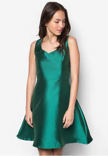 Chantelle 桃心領無袖連身裙,zalora 內衣 服飾, 洋裝