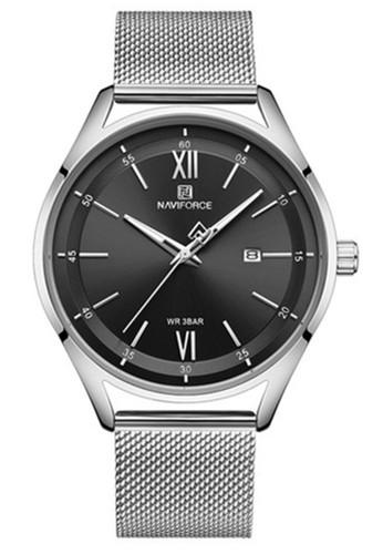 Naviforce black Naviforce - Jam Tangan Wanita - Silver - Stainless Steel Bracelet - NF3013-J 7EC03AC876B4ABGS_1