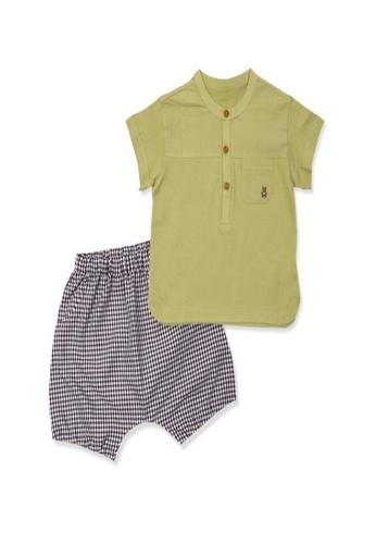 Organic mom green Organic Cotton Benson Green Pajamas 78212KAA37934FGS_1