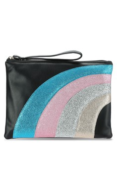【ZALORA】 Rainbow Clutch