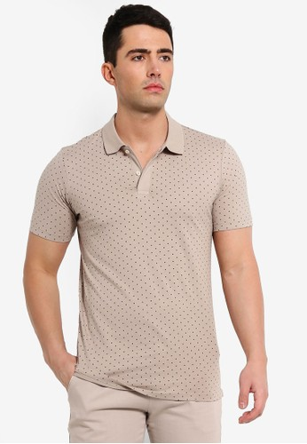 Jack & Jones beige Lemar Fitted Polo Shirt 1B2E5AA5DCE266GS_1