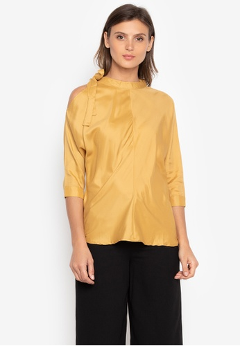 44fb8716ff107 Shop Maldita Ferris Cold Shoulder Blouse Online on ZALORA Philippines