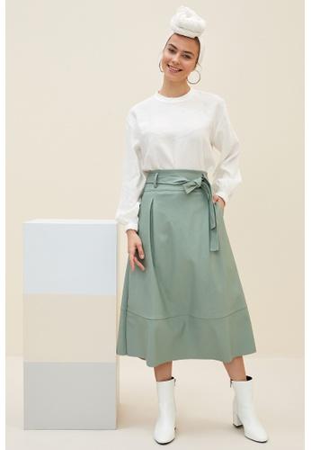 DeFacto green Midi Skirt 2986EAA86EA4BBGS_1