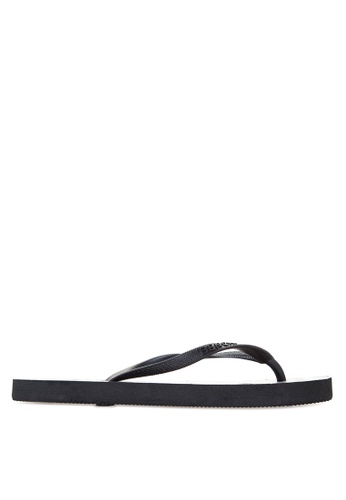 BENCH black Printed Rubber Slippers BE550SH70LUZPH_1