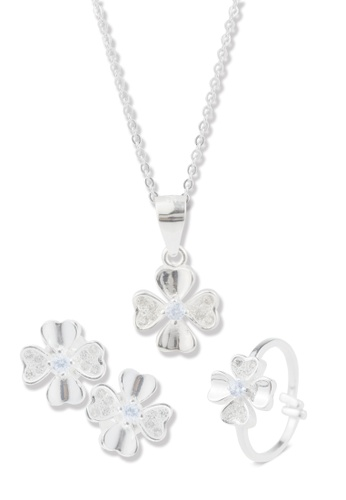SC Tom Silver silver Flower Heart with Stone Child Set- TSSC004  SC872AC38CGJPH_1