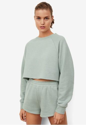 Mango green Crop Sweatshirt 18B33AA5BD4EF0GS_1