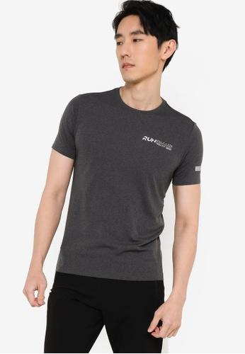 361° black Running Series Short Sleeve T-shirt E4888AA055BD4BGS_1
