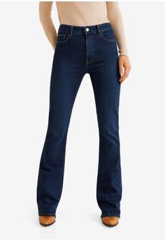 70a14b9c79fb Mango blue Decorative Seam Flared Jeans D3D92AA50AE6ABGS 1
