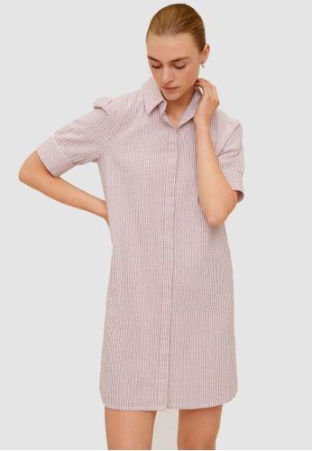 Mango red Cotton Shirt Dress C8B4FAA78B9631GS_1