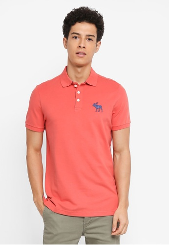 Abercrombie & Fitch pink Exploded Icon Polo Shirt E8317AA3C6805EGS_1