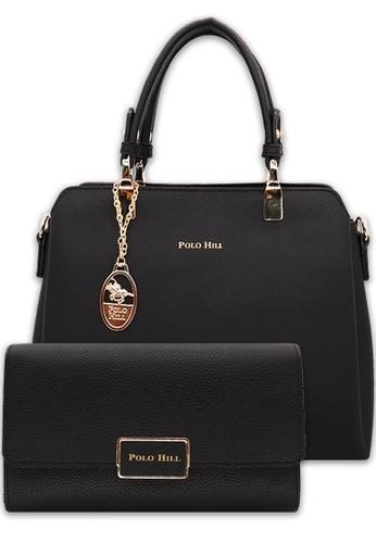 POLO HILL black POLO HILL Ladies Handbag 2-in-1 Bundle Set F2A99AC7DA273FGS_1