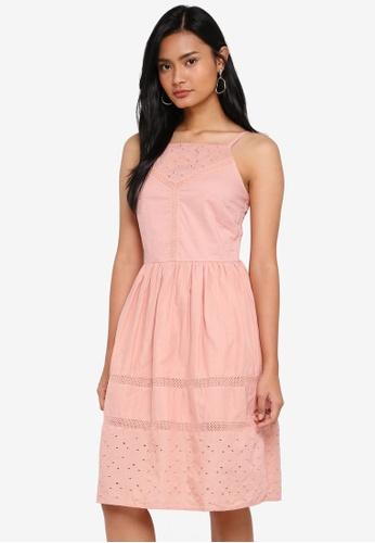 Dorothy Perkins pink Blush Lace Insert Cami Dress 2A106AA4B3636FGS_1