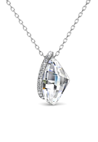 Her Jewellery silver Sammy Pendant - Made with premium grade crystals from Austria HE210AC0G599SG_1