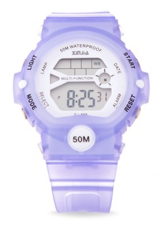 Sport Unisex Violet Resin Strap Watch XJ-865-Violet
