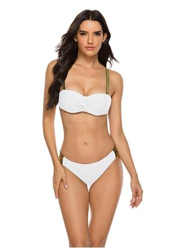 LYCKA white LKL7052a-European Style Lady Bikini Set-White 842EBUS6B81584GS_1