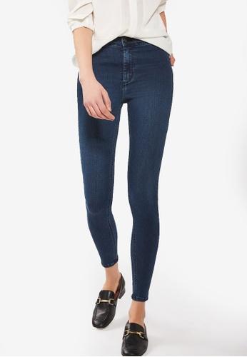TOPSHOP blue Moto True Blue Joni Jeans TO412AA29NFIMY_1
