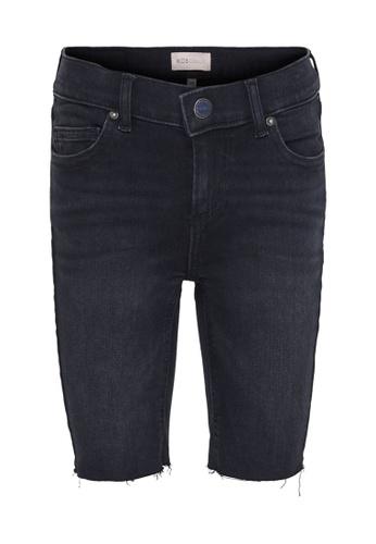 ONLY black Blush Long Denim Shorts 85E12KA76B8B71GS_1