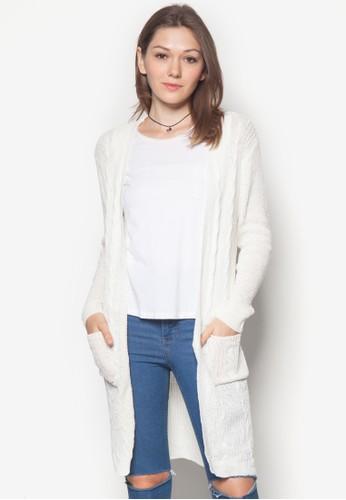 針織長版開襟外套,zalora時尚購物網的koumi koumi 服飾, 毛衣& 針織外套