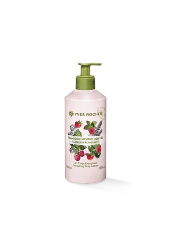Yves Rocher pink Energizing Raspberry Peppermint Body Lotion 390ml YV460BE89FHMSG_1