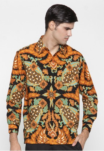 Waskito Kemeja Batik Semi Sutera - KB LE 0702 - Brown