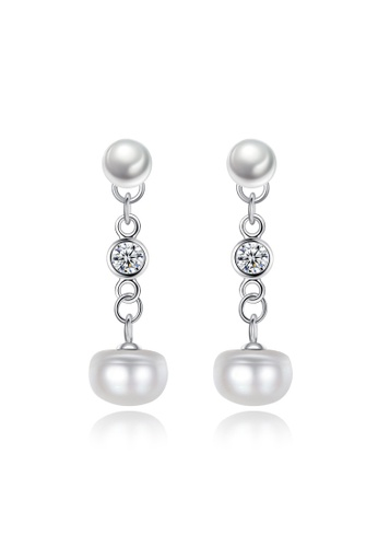 A.Excellence white Premium White Pearl Elegant Earring 99D14ACE88840CGS_1